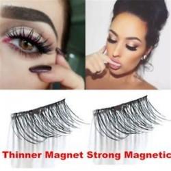 3D mágneses hamis szempilla nincs ragasztó vékonyabb mágnes hosszabbító szemhéjak Kézzel készített