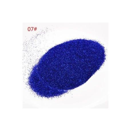* 7 Kék 25G. 100g Shine Glitter Chic köröm por por szivárvány színű kézműves körömvirág