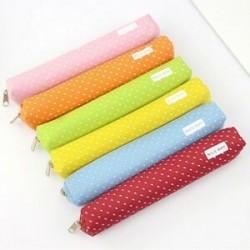 Kawaii Candy Dot levélpapír táska vászon cipzár ceruza esetben iskola diák szállít