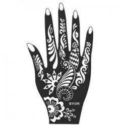 S113R. 10 színek India Henna ideiglenes tetováló stencilek a kézláb karjához Art Art Decal