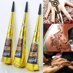 Fekete Henna beillesztési kúp. 10 színek India Henna ideiglenes tetováló stencilek a kézláb karjához Art Art Decal