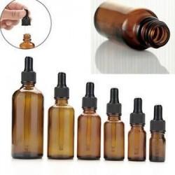 5-100ml üveg borostyánsárga folyékony reagens Pipettázzunk üvegcsepp csepp aromaterápiát