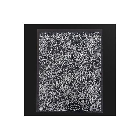 Ezüst. 1 lap dombornyomott 3D köröm matricák virágzó virág 3D köröm Art matricák matricák
