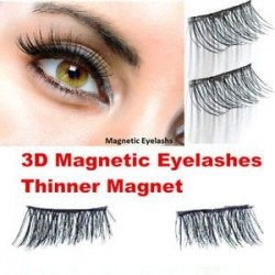 3D-s mágneses hamis szempilla nincs ragasztó kézzel készített vékonyabb mágneses kiterjesztés szemhéjak