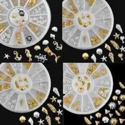 Arany és ezüst színű vegyes dísz körömhöz - műkörömhöz - A verzió