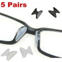 5 pár pár szilikon csúszásgátló ragasztó az orrpadra a szemüveg napszemüveg szemüvegéhez