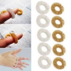 Sok 10Pcs ujjmasszázs gyűrű Akupunktúra Egészségügyi test Akupresszúrás masszírozó