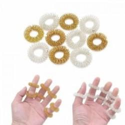 10db ujjmasszázs gyűrű akupunktúrás egészségügyi ellátás test akupresszúrás masszírozó Új