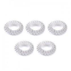 5db ezüst. 10db ujjmasszázs gyűrű akupunktúrás egészségügyi ellátás test akupresszúrás masszírozó Új