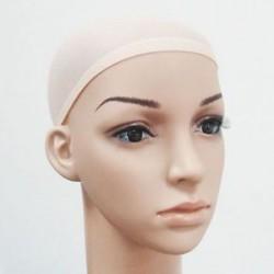 Bézs. 2PCS Elasztikus Unisex harisnya paróka bélés sapka Snood nylon Stretch Mesh bézs fekete