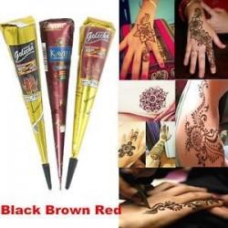 Ideiglenes tetováló készlet Természetes gyógynövény Henna kúpok Body Art festék Mehandi Ink Hot