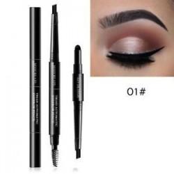 01 * Fekete. 3 in 1 Eye Brow Set Női vízálló smink szemöldök toll ceruza   por   ecset