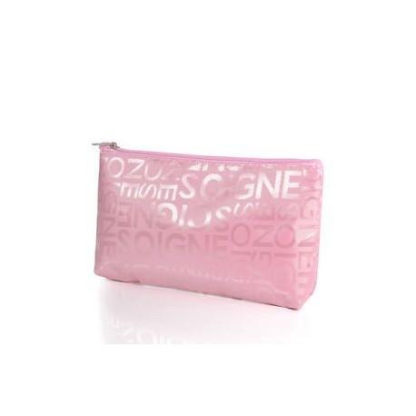 Rózsaszín. Női hordozható kozmetikai táska divat szépség cipzár utazási alkotó táska tok új