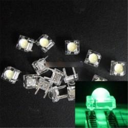 20db 5mm F5 Piranha LED zöld kör driverje szuper fényes fénykibocsátó dióda