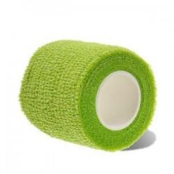 Zöld. Elasztikus öntapadós kötszer gézszalag Elsősegély-egészségügyi ellátás