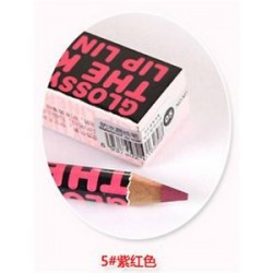* 5 Ruby Red. Szépség smink kozmetikai vízálló hidratáló ajakrúzs ceruza toll 12 színben