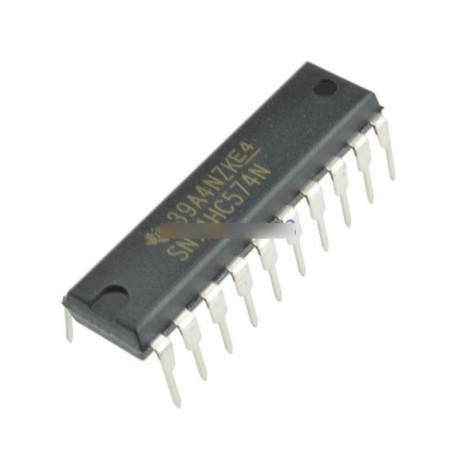 5db 74HC574N 74HC574 DIP-20 D-típusú Flip-Flop integrált áramkör IC DIP 20