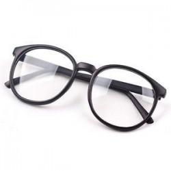 Matt fekete. Divat Unisex világos lencse szemüveg keret Retro kerek férfi nők Nerd szemüveg
