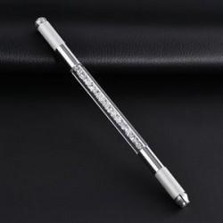 fehér. Kettős akril kristály kézi tetováló toll állandó mikroblasztó szemöldök eszközök