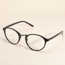 Fekete. Divat tiszta lencse szemüveg keret retro kerek férfi női unisex majom szemüveg