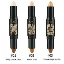 2 in1 Kettős végű kontúr Stick 3D Face Eye Foundation kontúr kiemelő