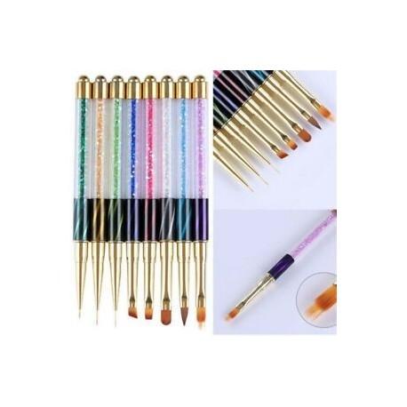 Nail Art UV Gel Liner gradiens festés kefe Art tollak Nail Art manikűr eszközök