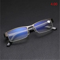 4.00. Férfiak Félkeret Stílus Anti-sugárzás Kék Filmolvasó szemüveg 1.00-4.00