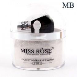 Ezüst. MISS ROSE kiemelő kontúr arc szem smink alapja laza por   ecset