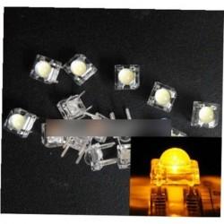 10db 5mm F5 Piranha LED sárga kerek fej Super Bright fénykibocsátó dióda beu