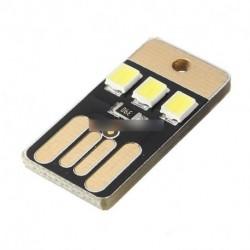 2db kártya lámpa izzó Led Mini kulcstartó LED-es éjszakai fény-hordozható USB Power fehér