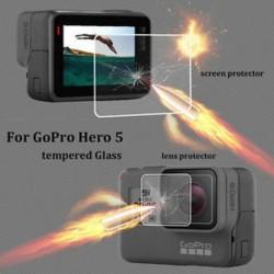 Prémium edzett fólia lencse   képernyővédő kamera tartozékok a Gopro Hero 5-hez