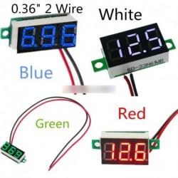 4 színes 3-digiis DC 4.7-32V Mini LED Panel feszültség MeterAdjustment Feszültségmérő