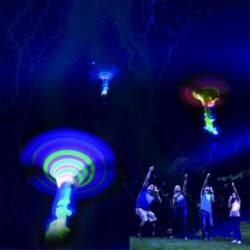 Villogó LED világít Dragonfly Glow repülő szitakötő fél játékok gyerekek ajándék