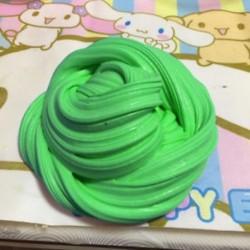 Zöld - Fluffy Slime Floam ADHD autizmus felnőtt stressz gag gyerekek 60ml / 2.2oz HOT