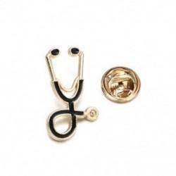 Arany - Arany 1db orvosi Unisex zománc sztetoszkóp Orvos nővér brossok Pin kabát Lapel jelvény