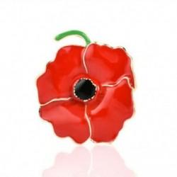 * 3 piros mák virág (3,5x4cm) - * 3 piros mák virág (3,5x4cm) Retro női zománc piros mák virág bross Pin Broach