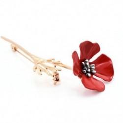 * 4 arany mák (8x2.8cm) - * 4 arany mák (8x2.8cm) Retro női zománc piros mák virág bross Pin Broach emlékezés ékszer