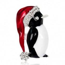 * 6 pingvin (2x3.6cm) - * 6 pingvin (2x3.6cm) Retro női zománc piros mák virág bross Pin Broach emlékezés ékszer