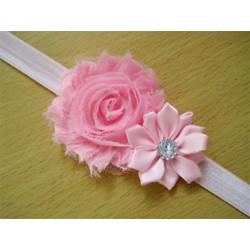 Rózsaszín - Rózsaszín Új csecsemő gyerek kislány baba kisgyermek fejpánt virág haj íj zenekar tartozékok JP8