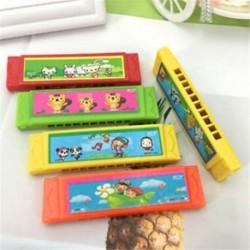 1db gyerek rajzfilm műanyag harmonika játék szórakoztató zenei korai oktatási ajándék játék