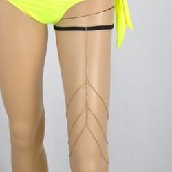 Arany - Arany Szexi női többrétegű lábszár comblánc testláncok strandköteg ékszer