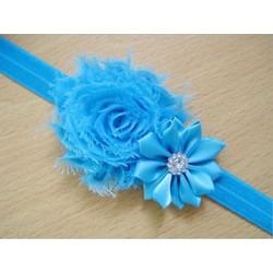 Kék - Kék 1x kedves gyerek baba lány kisgyermek csecsemő virág fejpánt haj íj zenekar tartozékok