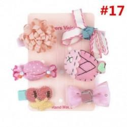 * 17 6Pcs / Set - * 17 6Pcs / Set 1 készlet gyerekek baba lány haj klipek készlet Bowknot virág szív korona fejfedők