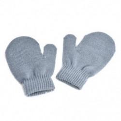 szürke - szürke Kisgyermek gyerekek téli meleg kesztyű Baby Boy Girl Aranyos puha kötés ujjatlan kesztyű