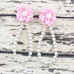 Rózsaszín - Rózsaszín Nyári csecsemő baba lány egy kiságy mezítláb gyűrű virág gyöngy gyerek cipő szandál