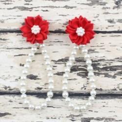 Piros - Piros Nyári csecsemő baba lány egy kiságy mezítláb gyűrű virág gyöngy gyerek cipő szandál