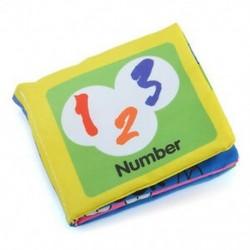 Szám - Szám Baby Kids Child Intelligence fejlesztése Cognize Soft Cloth Book oktatási játék