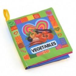 Zöldségek - Zöldségek Új, puha ruhával ellátott bébi gyerek gyermek intelligencia fejlesztés, puha ruházat, a könyv