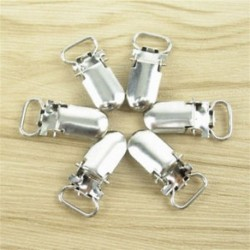 10 ezüst beszúró cumi fémtartó függesztőkapcsok, 10 mm-es ujjakhoz