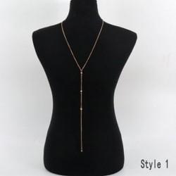 13 - 13 Fényes kristály strasszos mellkas mellkasi test lánc kábelköteg nyaklánc női ékszerek